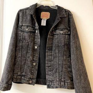 Vintage Levi's Black acid wash denim jacket